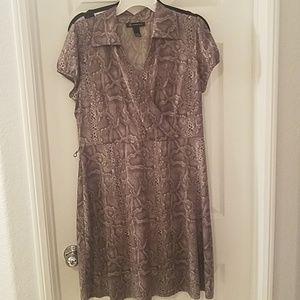 Snake Skin Short Sleeve Dress
